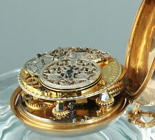 Exelente Jean Pierre Thuillier 1740 Gold Barock Spindeluhr Perseus & Andromeda
