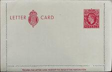 King George VI 2 ½ D Letter Card, Unused 1940's / 1950's