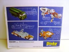 1976 UK Edition Dinky Toys Catalogue Excellent Unused No Ink Or Pencil