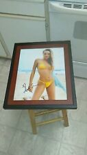 Amanda Marcum Enfield Super Model Actress Signed Sexy  11x14 Framed Photo