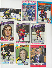 1976-77 TOPPS SIGNED CARD PIERRE BOUCHARD MONTREAL CANADIENS CAPITALS # 177