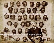 Old Vintage Odd Weird Scary Strange Tattooed Tribal Mokomok Maori Heads Photo