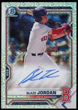 2021 Blaze Jordan Topps Bowman Chrome Mega Box Mojo Auto Autograph #BMA-BJ