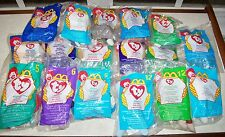 17 TY PLUSH McDonalds Kids Meal Toys - NEW IN PACKS + 2 HAPPY MEAL TY BAGS