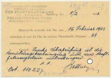 Ausweispapiere (vor 1945)
