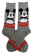 Disney Mickey Mouse Dress Socks Men's Shoe Size 6-12 Crew Gift Casual Gray New