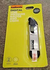 Halfords Digital indicador de la presión del neumático y pantalla con retroiluminación de luz-nuevo