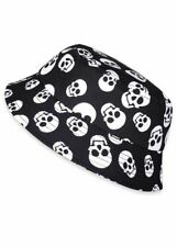 Six Bunnies Whole Lotta Skulls Bucket Hat Gothic Kids Toddler Cool Black White