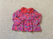 Girls clothes. Bows and arrows red floral top. 18/24 mths
