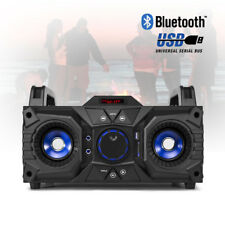 Battery Powered Portable Stereo Party Speaker with Bluetooth USB MP3 100w