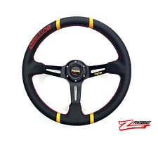 Universal 14 inch Drifting Carbon Fiber PVC Cover Racing Sport Steering Wheel