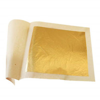 """30X Edible Gold Leaf Sheets 1.2"""" X 1.2"""" Cooking Cakes Chocolates Decoration New"""