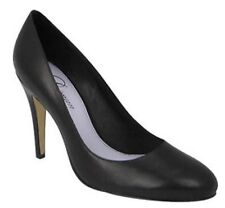 $295 Delman Shari  Black Leather Dress Cal Pump Size US 8 M New in Box !!!!