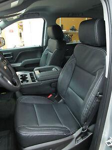 2014 2015 2016 2017 Chevy Silverado Sierra Crew leather seat cover set