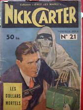 NICK CARTER:LES DOLLARS MORTELS N°21 COLBERT 1949