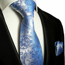 Blaue paisley Krawatten Set 2tlg Seidenkrawatten 428