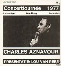 CHARLES AZNAVOUR  -  CONCERTTOURNEE 1977 (VINYL PROMO LP HOLLAND + TICKET)