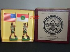 BRITAINS 5971 UNITED STATES OF AMERICA BOY SCOUTS METAL TOY SOLDIER FIGURE SET