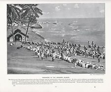 1897 VICTORIAN PRINT ~ PRISONERS IN THE ANDAMAN ISLANDS PORT BLAIR ~ WITH TEXT