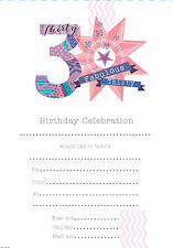 Pack Of 20 30th Birthday Party Invitation Sheets & Envelopes - 30th Female