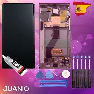 "Vidrio táctil + LCD en marco para Samsung Galaxy Note 10 SM-N970F 6.3"" rosado"