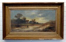 ANTIQUE Vintage RURAL LANDSCAPE Victorian Painting SIGNED FRANZ MEYERS