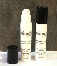 LOT OF 2 Philosophy Miracle Worker Miraculous Anti Aging Eye Cream 0.1 oz each