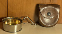 Vintage collapsible cup with handle and antique leather case *Nice* Germany