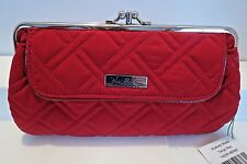 Vera Bradley Tango Red Kisslock Frame Wallet / Chain Clutch Retail 74.00 NWT