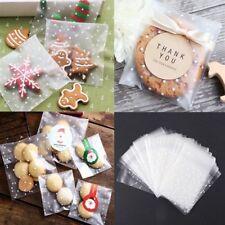 100pcs Self Seal Adhesive Polka Dots Plastic Cellophane Cookies Candy Bags Gift