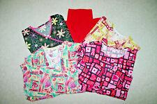 Scrub Lot of 5 Pieces, 1 Pants (lg) 2 Tops(xl) 2 Jacket (xl) Hearts