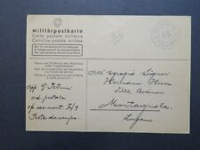 Switzerland 1940 Military Post Card / Stampless - Z7897