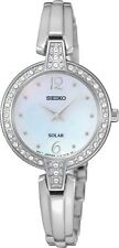 Seiko SUP287 SUP287P9 Ladies Solar Crystal Watch NEW Mother-of-Pearl RRP $550.00