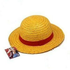 US STOCK One Piece Straw Hat Luffy Anime Cosplay Hat Boater Beach Cap Xmas Gift