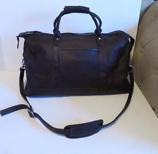 Latico ESPN Heritage Leisure Time Chocolate Brown Leather Duffel Bag