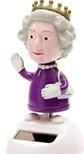 Solar power Dancing Bobble Head Queen Elizabeth Toy USA Seller One Day Shipping
