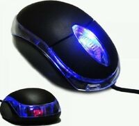 USB Optical Wired Mouse For PC Laptop Computer Scroll Wheel  Black