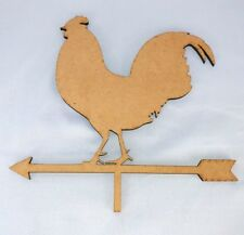 rooster cutout farmhouse mdf pallet wood accent decor 1/4 thick weather vain