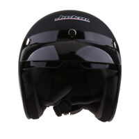 Open Face 3/4 Motorcycle DOT Approved Retro Helmet Scooter Vintage Helmets