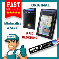 RFID Blocking Pocket Front Wallet Leather ID Credit Card Holder Slim Men's Purse