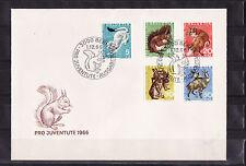 c/ Suisse enveloppe  pro juventute  1966  faune sauvage