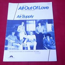 Vintage Original Sheet Music All Out Of Love by Air Supply 1980