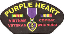 BRAND NEW PURPLE HEART VIETNAM VETERAN MILITARY PATRIOTIC BIKER IRON ON PATCH