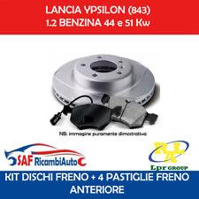 KIT DISCHI FRENO + PASTIGLIE ANTERIORI LPR LANCIA YPSILON (843) 1.2 44 e 51 Kw
