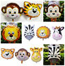 Animal Head Foil Helium Balloons Baby Shower Birthday Party Decorations Supplies