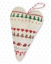 25ct Cross Stitch Decoration Kit - Luca-S - Winter Sampler Christmas Heart Kit
