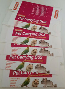 5 x Quality Cardboard Carry Transporting Box Birds Hamster Mice Gerbil Small