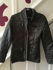 SIZE 8 LEE COOPER DARK KHAKI QUILTED JACKET TOWIE/XMAS/PARTY/WINTER RRP £80