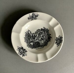 "Wedgwood Creamware Rex Whistler Design ""Clovelly"" Ashtray,- Early"