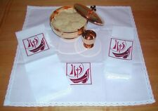 Fishers of Men Chalice Veil, Burse & Church Altar Linens Set, Catholic Christian